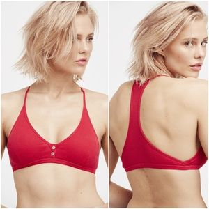 Free People Connor Ribbed Racerback Bralette S